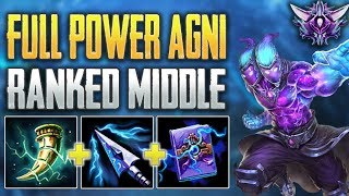 EXPLOSIVE Agni Mid Gameplay - SMITE Ranked Conquest (Masters)