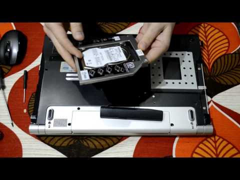 Install second hard drive to Sony VAIO laptop with hdd caddy