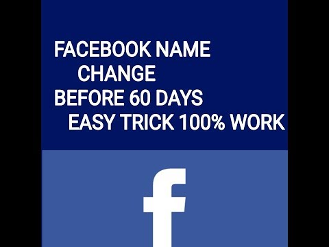 Facebook name change before 60 days