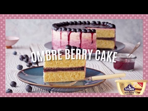 How to Make Easy Ombre Berry Cake