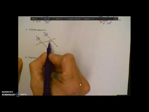 Parallel Lines & Transversals Notes