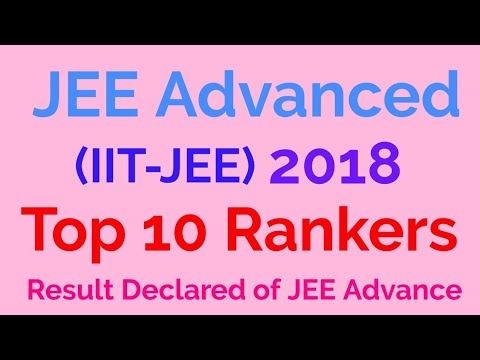 Top 10 Students of JEE Advance 2018 | JEE Advance result 2018 | IIT JEE 10 Toppers
