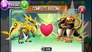 Egg Hunter Dragon vs Draluxe Dragon | Dragon City [RARE BREEDING DRAGON]