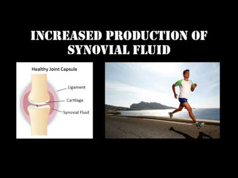 Increased production of synovial fluid