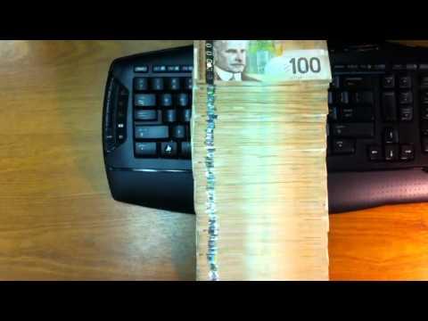 Half a million dollars canadian cash in hundreds