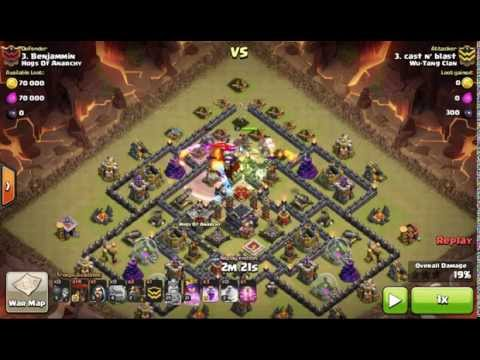 Shattered LaLoon. The Giza base. Max TH9. Haste Spell use