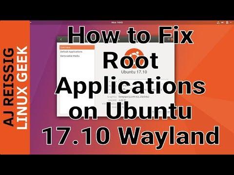 How to Fix Root Applications on Ubuntu 17.10 Wayland