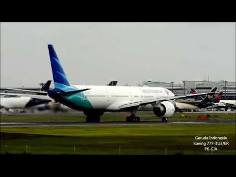 [D7100]Delivery flight Garuda Indonesia Boeing777-3U3/ER takeoff!!成田空港 ガルーダ・インドネシア(B777-300ER)