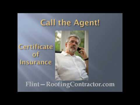 Flint Roofing Contractor |How To Verify Insurance Coverage?