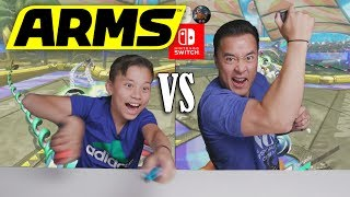 ARMS BATTLE ROYAL!!! Father VS. SON on Nintendo Switch!