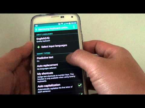 Samsung Galaxy S5: How to Change Keyboard Swipe to Cursor Control or Flick Input