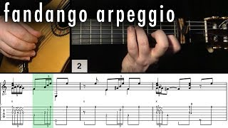 Flamenco Guitar 102 - 22 Fandango Arpeggio