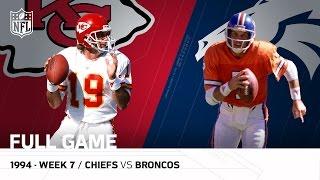 Chiefs vs. Broncos: Joe Montana vs. John Elway The Final Showdown   Week 7, 1994   NFL Full Game