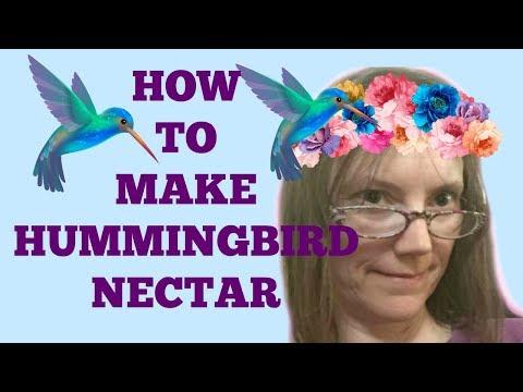 How to make hummingbird nectar NO DYE easy