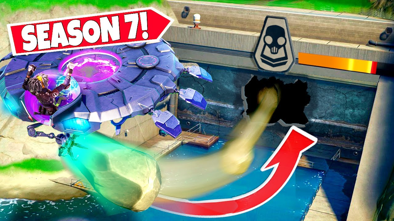 *NEW* USING SEASON 7 UFO'S TO *SMASH OPEN* GROTTO DOORS IN FORTNITE!
