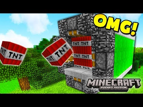 How to make the BEST TNT CANNON In Minecraft w/ MooseCraft (Minecraft Pocket Edition)