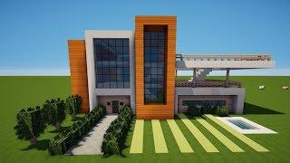 MINECRAFT MODERNES HAUS AUF WASSER Bauen TUTORIAL German Tubexco - Minecraft hauser zeigen