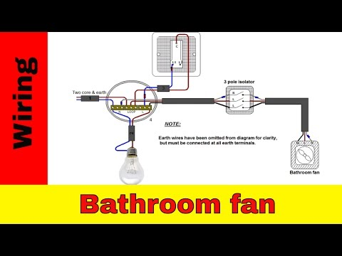 Fan installation in a bathroom - Bathroom Downlight Extractor on