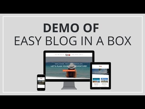 Easy Blog In A Box Demo Site Walkthrough