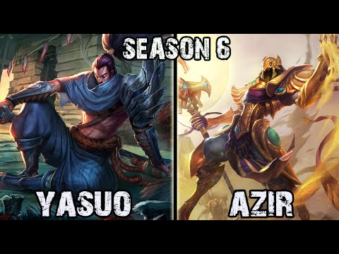Best Yasuo Korea vs Azir MID Ranked Challenger