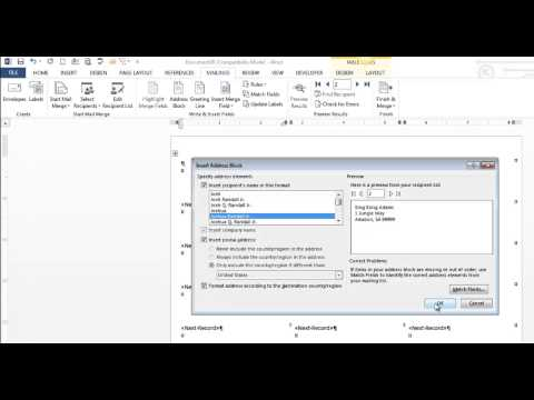 Create Mailing Labels using Mail Merge - Word 2013