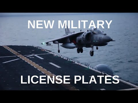 NEW MILITARY LICENSE PLATES