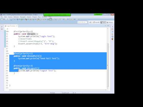 Selenium WebDriver Testng Training Tutorial