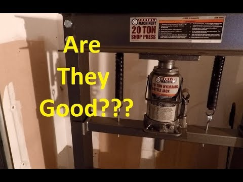 Harbor Freight Tools 6 and 20 Ton Press Review