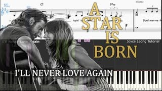 Lady Gaga I Ll Never Love Again Extended Version Tutorial Sheets