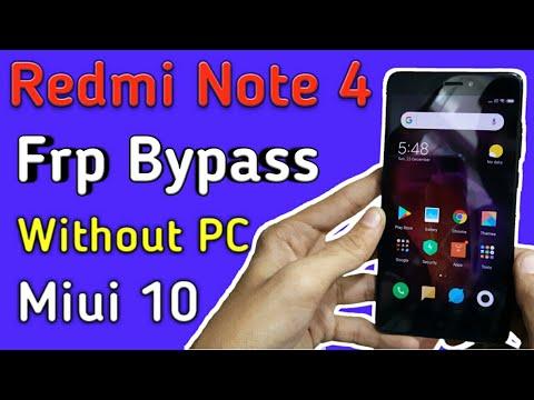 Redmi Mi Note 4 (2016100) | Google Account Remove | FRP