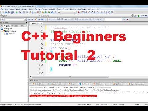 C++ Tutorial for Beginners 2 - Understanding C++ Program Structure