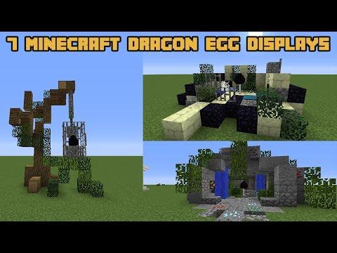 7 Minecraft DRAGON EGG Display Designs!
