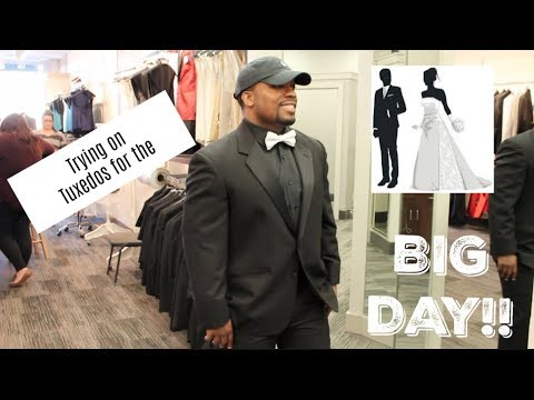 TRYING ON TUXEDOS: Journey To I Do| WE'RE GETTING MARRIED (Msnaturallymary)
