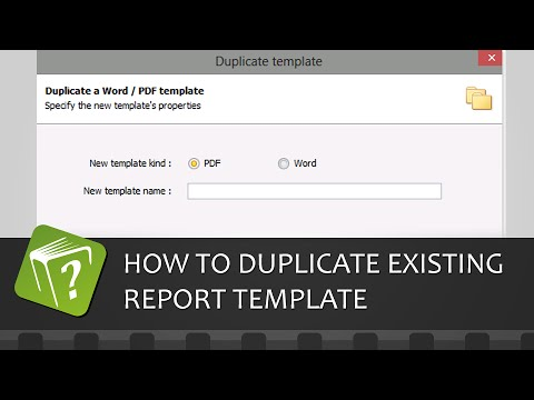 How to duplicate an existing report template (Step-by-step guide)