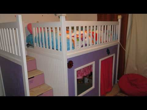 Children Playhouse Bed With Stairs