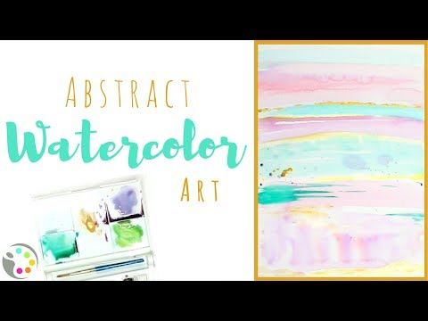 How To Paint an Abstract Watercolor Painting  | Watercolor Tutorial