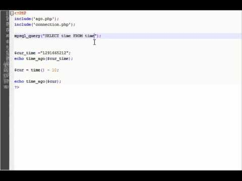PHP Tutorial (Time Ago Part 3)