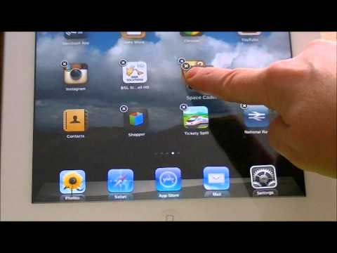 Creating and Deleting Folders on an iPad
