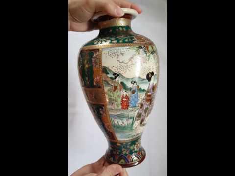 Satsuma-style Pottery Japanese Vase