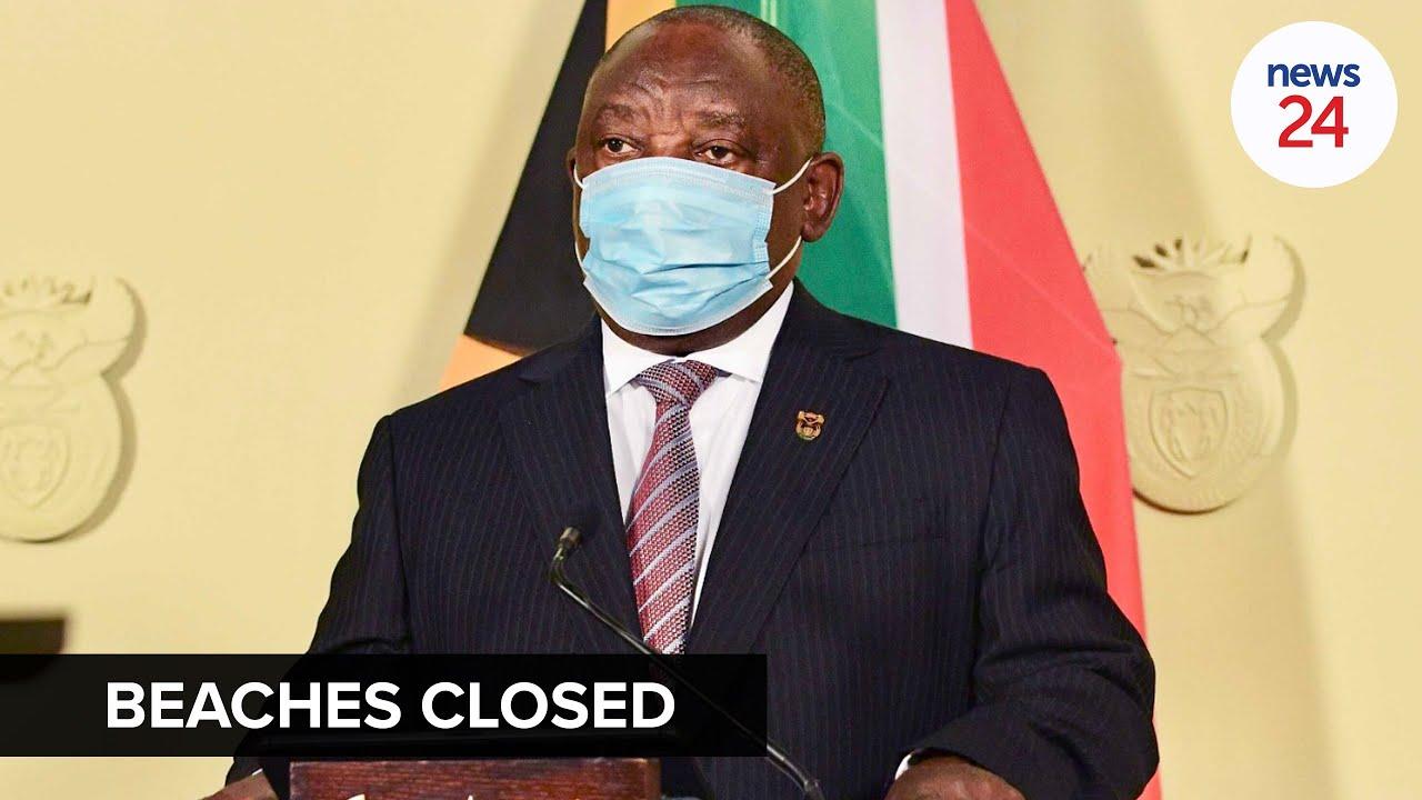 WATCH   Ramaphosa announces closure of beaches during the festive season