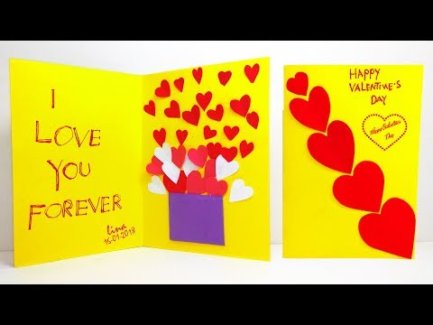 Valentine Pop Up Card | Handmade Best Card (Love Forever) #Linas-Craft-Club
