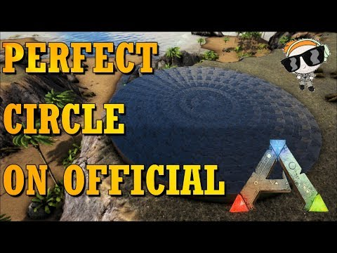 How To Build A Circle In Ark || 32 Sided Circle Tutorial