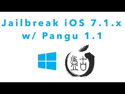 Pangu 1.1 Windows Jailbreak tutorial for iOS 7.1.x untethered