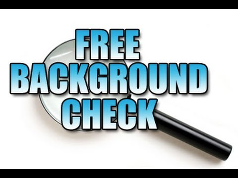 BACKGROUND CHECK SCAM | FREE BACKGROUND CHECK