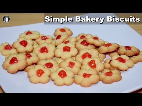 Bakery Biscuits (Without Oven) - Simple Cookies Recipe - Kitchen With Amna
