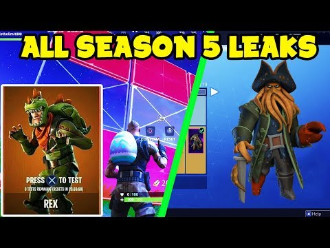 ALL Fortnite Battle Royale SEASON 5 LEAKS! - Try Out Skins Before Buying, Edit Enemy Building & More