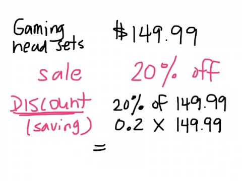 Calculating discount and sale price using percent gr 9 applied 02 11 15