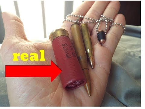 making a BULLET NECKLACE out of a LIVE round