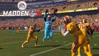 MADDEN 18 GAMEPLAY!! REDSKINS VS PANTHERS - Madden NFL 18