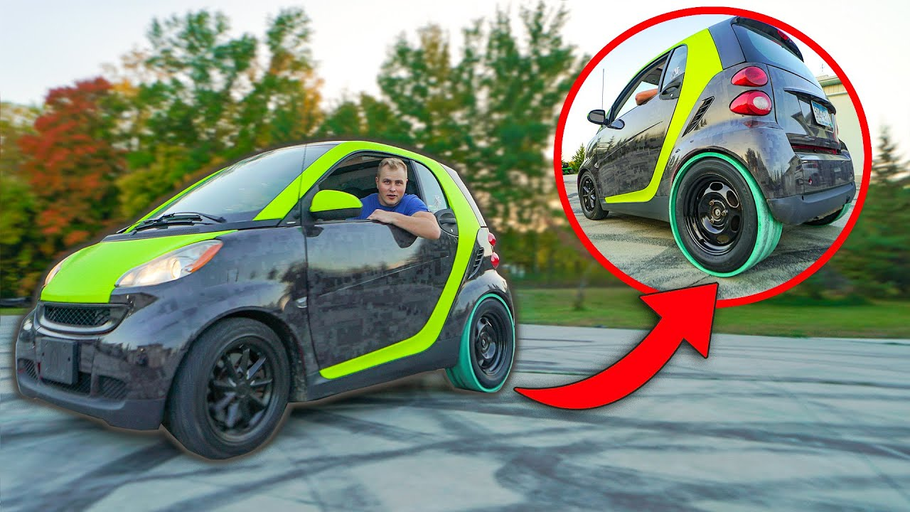 Drift Sleeves on Smart Car!! (It worked)